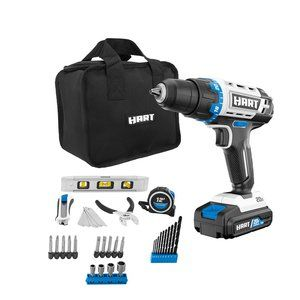 HART 20-Volt Cordless 36-Piece Project Kit, 3/8-in